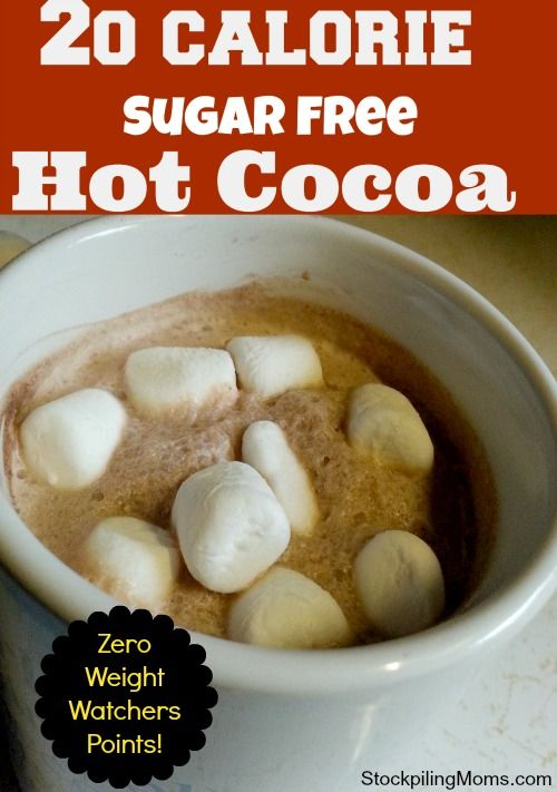 20 Calorie Sugar Free Hot Cocoa | Recipe | Sugar free, Sugaring ...