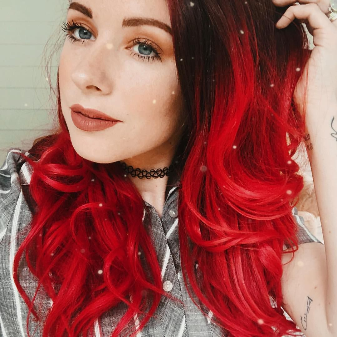Savannahkwallace Used Wrath Poison For This Shade Cruelty Free Hair Dye Arcticfoxhaircolor Ombre Hair Color Fox Hair Dye Ombre Hair Blonde