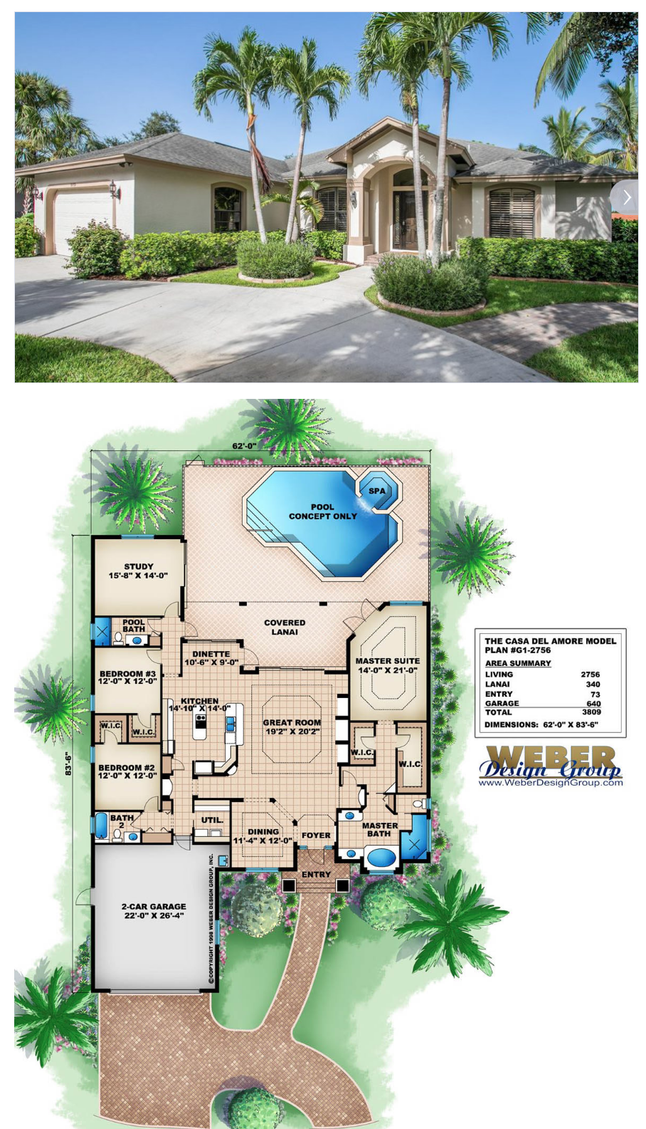 Waterfront House Plan Golf Course Waterfront Lot Home Floor Plan Pool House Plans Waterfront Homes House Floor Plans