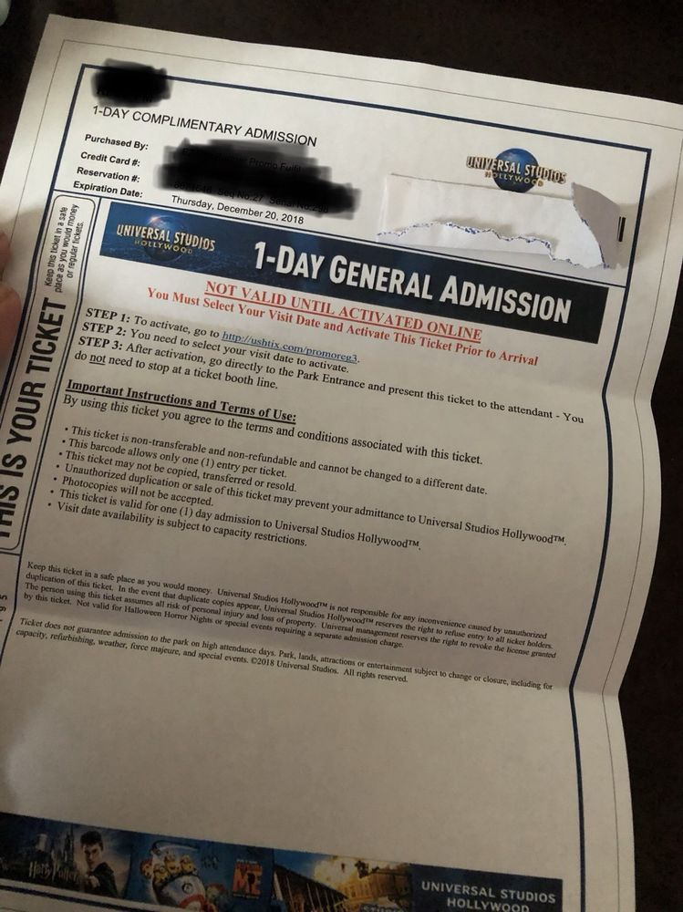 Event tickets us universal studios hollywood ticket
