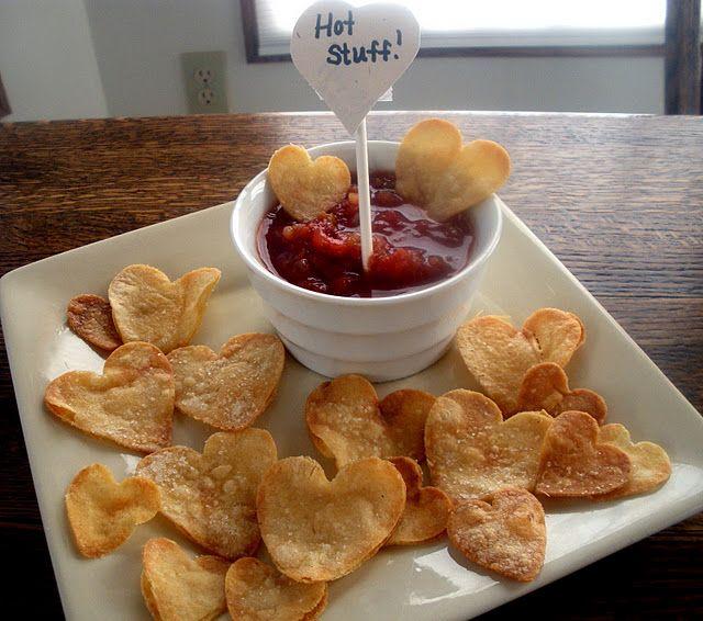 Heart Shaped Tortilla Chips