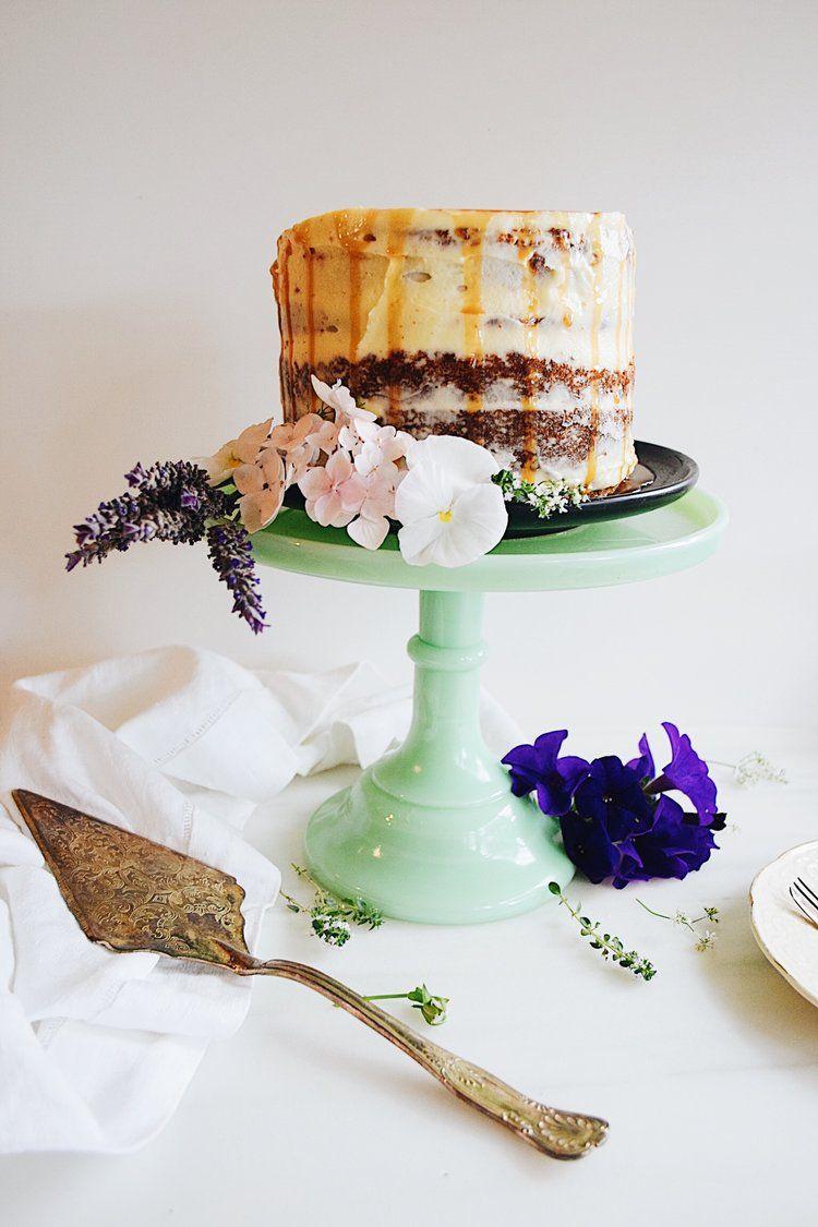 Mascarpone Cheesecake with Bananas and Butterscotch Sauce Recipe photo