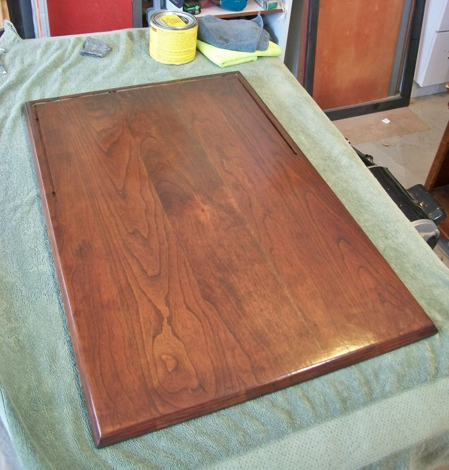 With The Last Coat Of Polyurethane Dry I Rubbed On A Coat Of Paste Wax With
