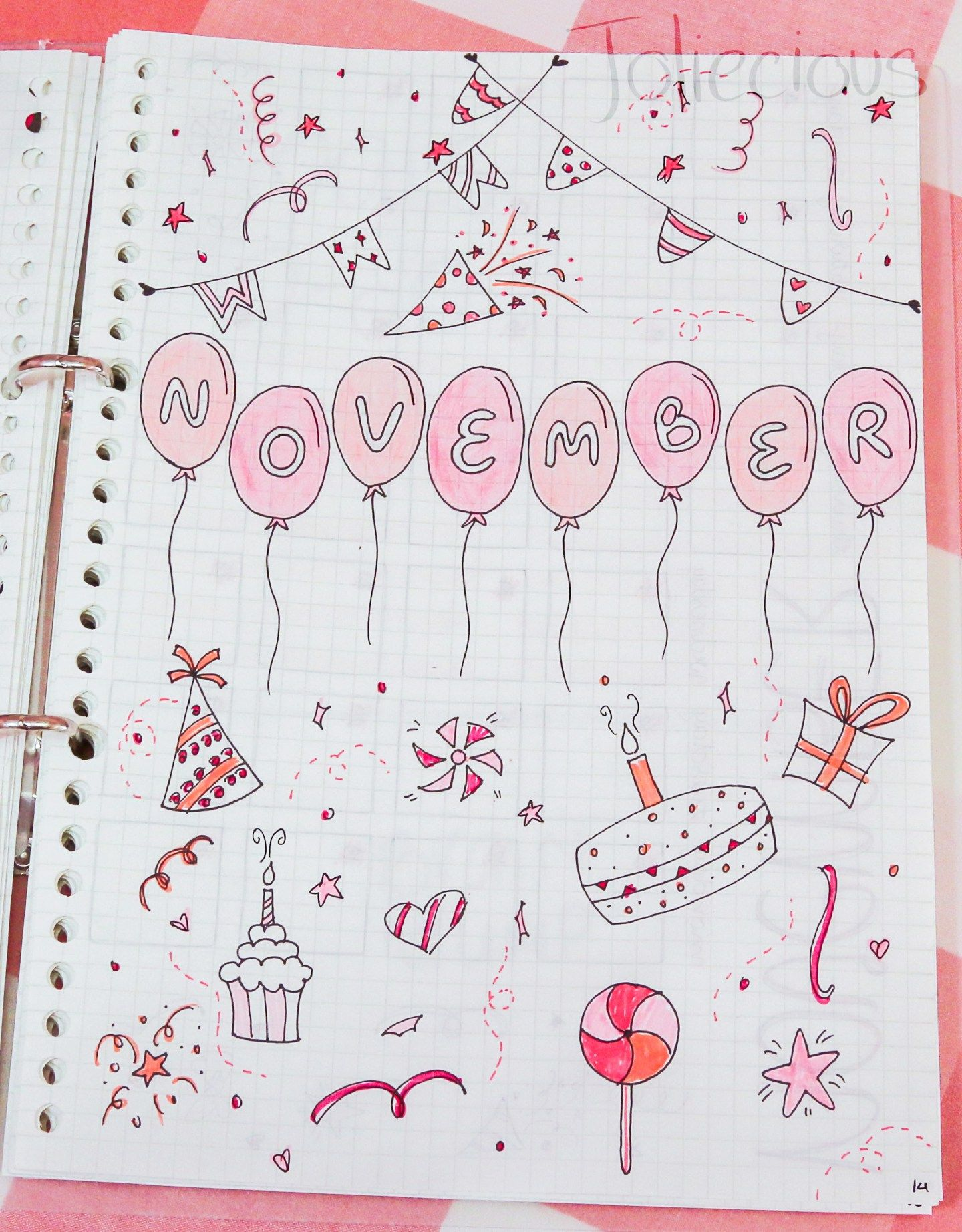 November Bullet Journal Setup #septemberbulletjournalcover