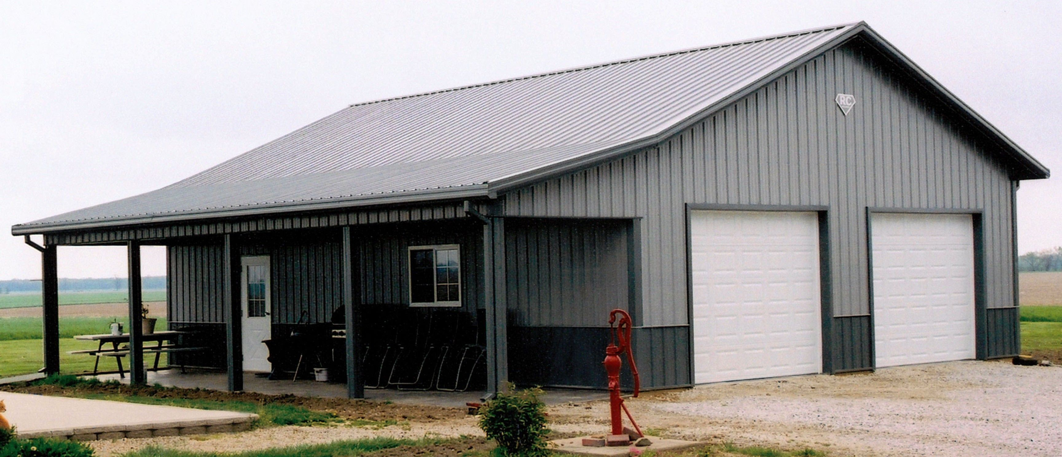 Metal building homes top pictures gallery online for Building a house out of a pole barn