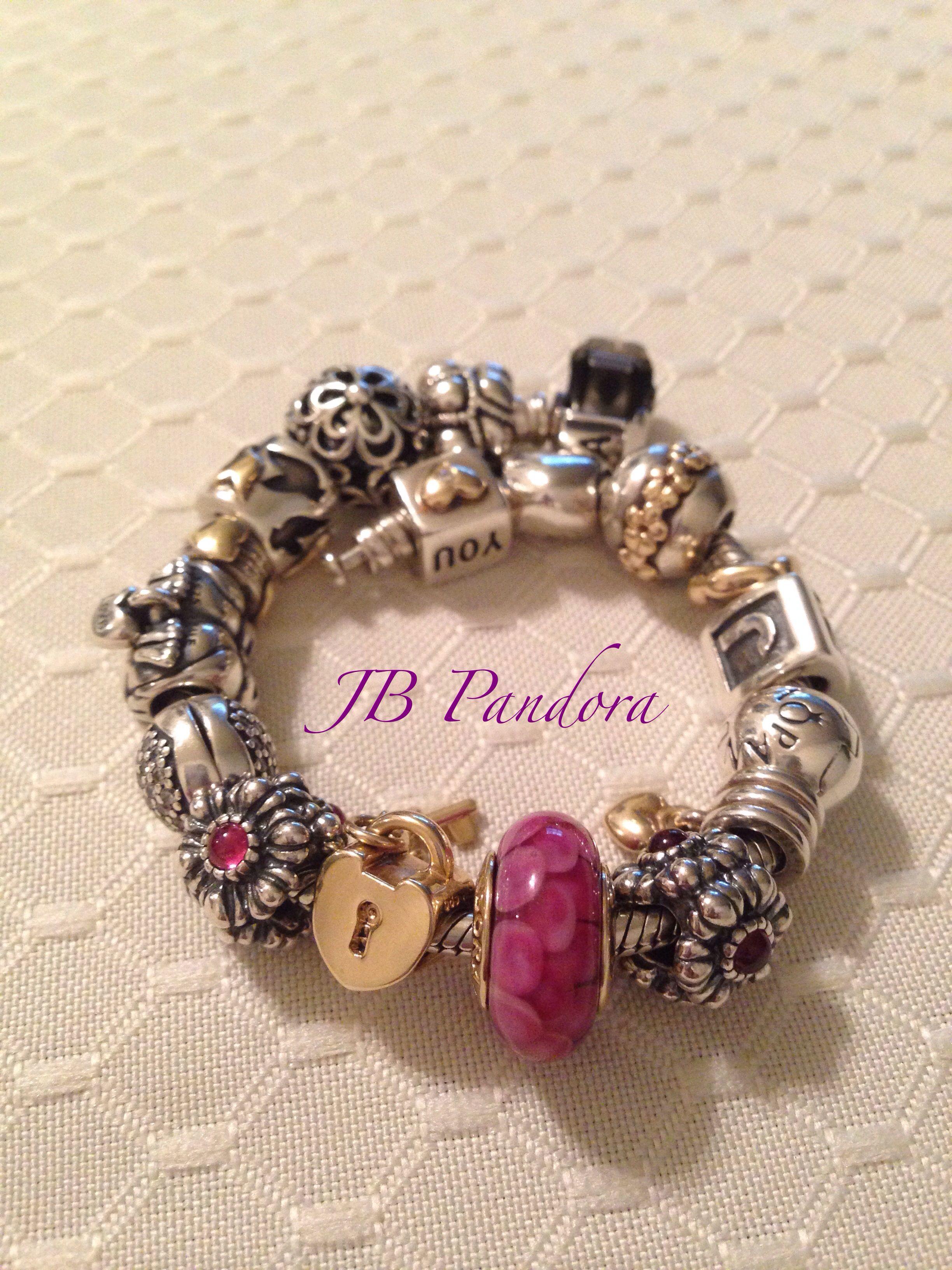 Pandora pink lotus murano Pandora bracelet PANDORA