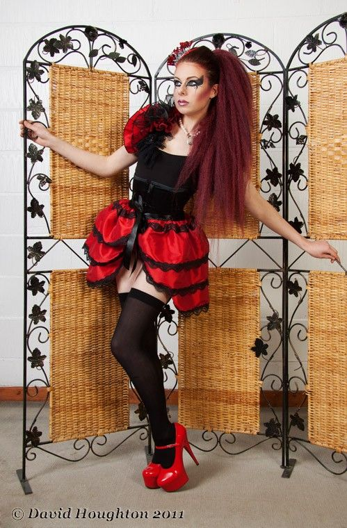 Halloween costume LOVE LIES BLEEDING by GothicBurlesque on Etsy - black skirt halloween costume ideas