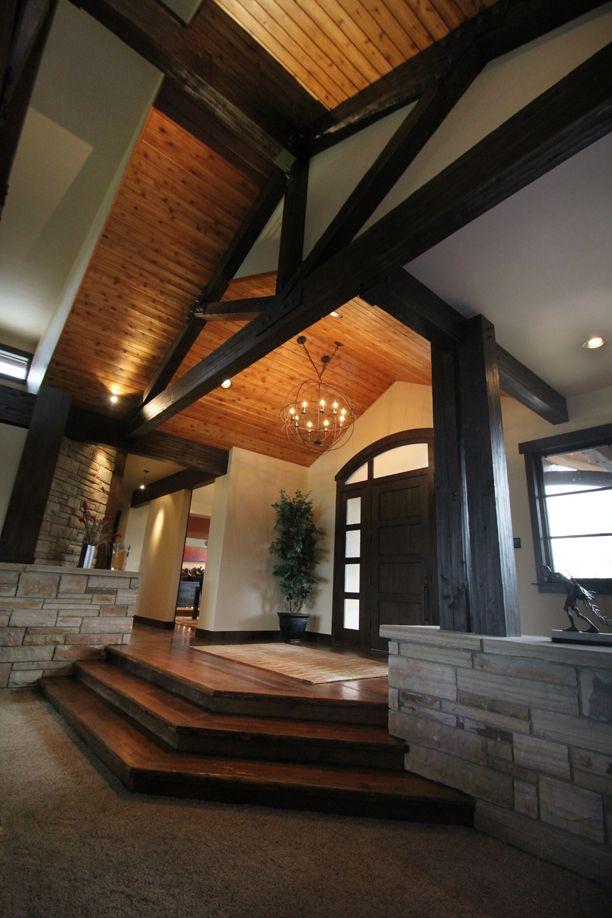 Creekside Residence Entry - Oglesby Design   Ceiling ...