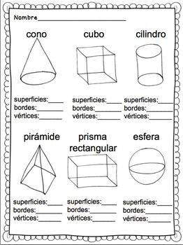 formas s lidas spanish solid shapes spanish classroom ideas spanish worksheets elementary. Black Bedroom Furniture Sets. Home Design Ideas