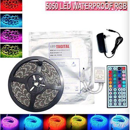 Led Light Strips Walmart Amusing Tagital® 164Ft 5M Waterproof Flexible Strip 300Leds Color Changing Decorating Inspiration