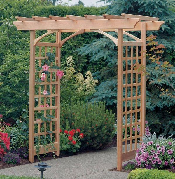 La d coration ext rieure avec un treillis de jardin for Fabriquer un portillon en bois