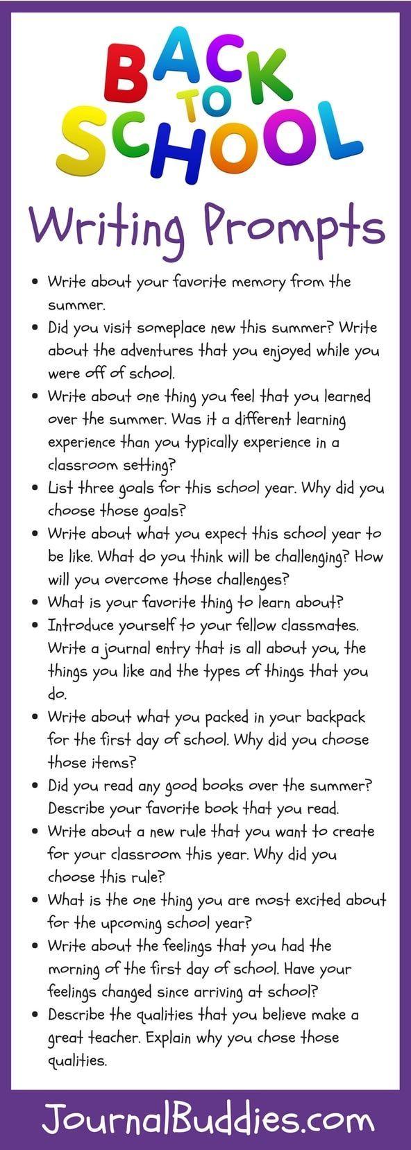 Back to School Activities (K-2) & Bonus Writing Prompts   2