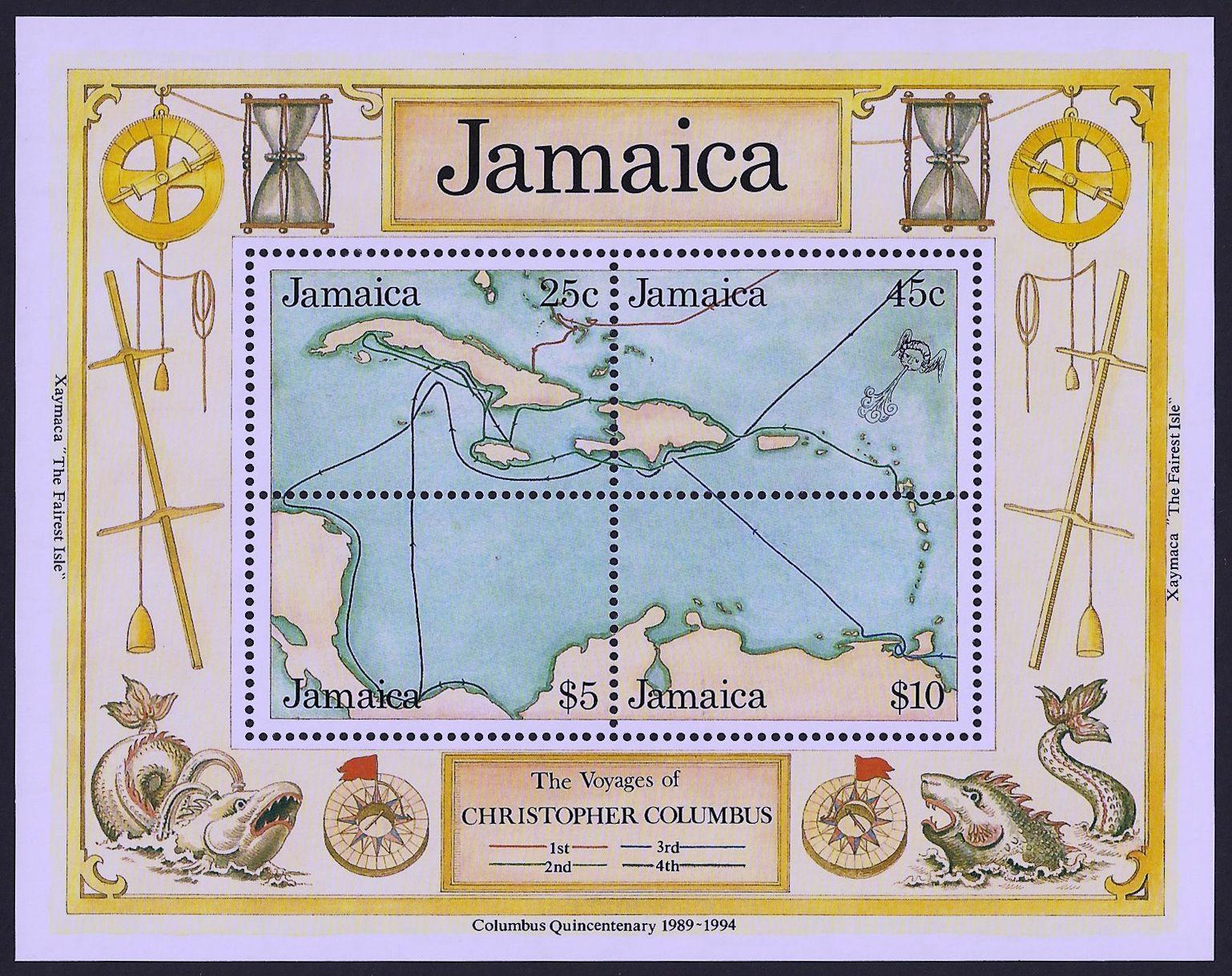 Jamaica Scott 745 19 Dec Small Souvenir Sheet