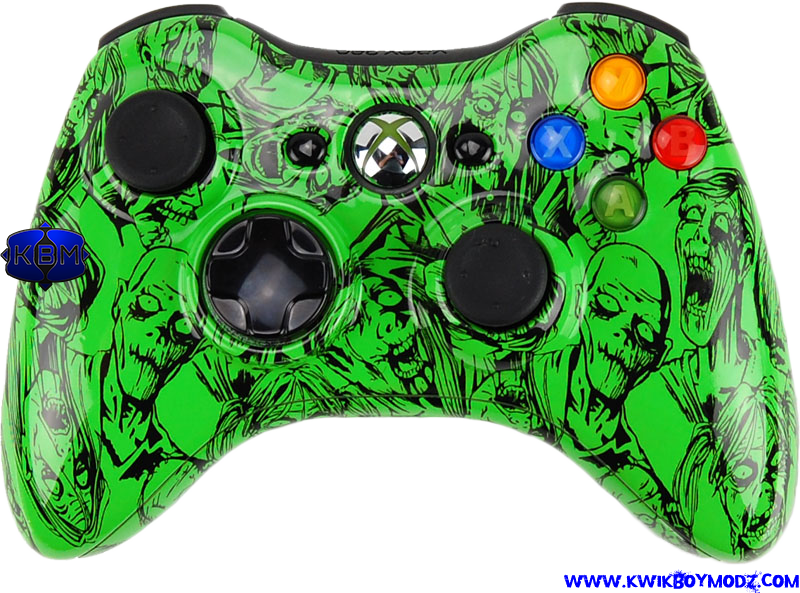 1 Something Green Green Zombie Xbox 360 Controller The Scarefest Green Gamer Controller Zombies Scaref Xbox 360 Controller Ps4 Or Xbox One Xbox