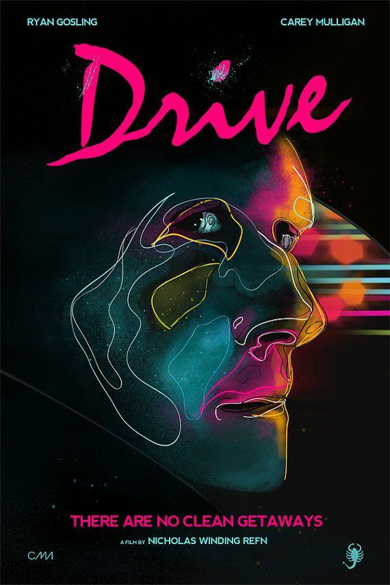 Drive movie poster art print memorabilia home wall decor also rh pinterest