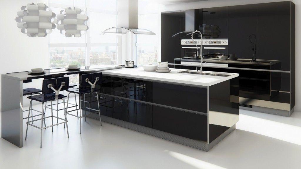 Cucine Moderne Con Isola O Ad Angolo Bianche Ed Economiche Contemporary Kitchen Design Kitchen Design Styles Modern Kitchen Design