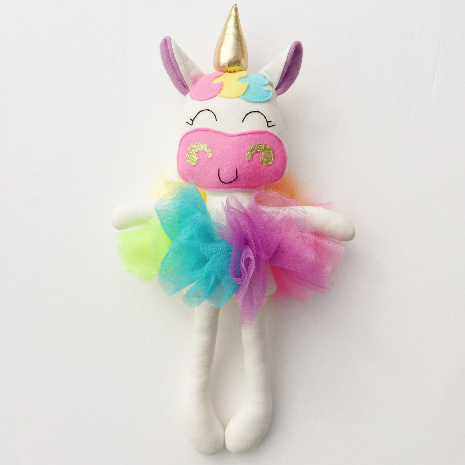 Unicorn doll fabric doll baby gift rainbow unicorn for Chambre unicorn