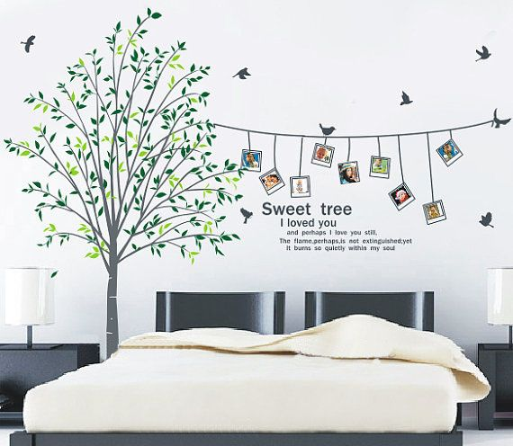 Sweet Home I Love You Photo Frame Wall Sticker Tree Wall Decals - Wall decals picture frames