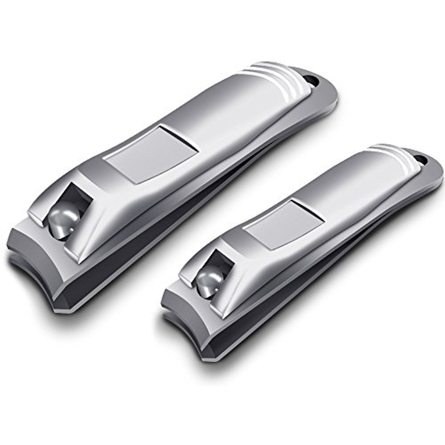 Chimocee Nail Clippers 2pcs Professional Sharpest Stainless Steel Fingernail And Toenail Heavy Duty Set For Men