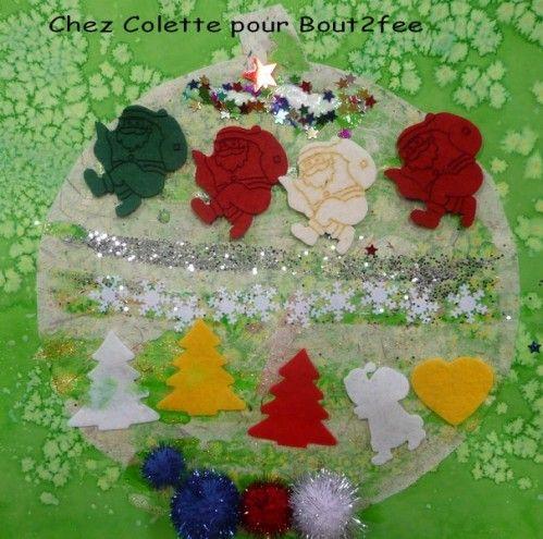 Et c'est parti pour les décorations de Noël. Je vous propose les décorations de Colette et de ses collègues qu'elles ont réalisées l'année dernière. Elles ont travaillé sur les boules de Noël . Des ronds et des carrés dans les tons vert/rouge/doré De...