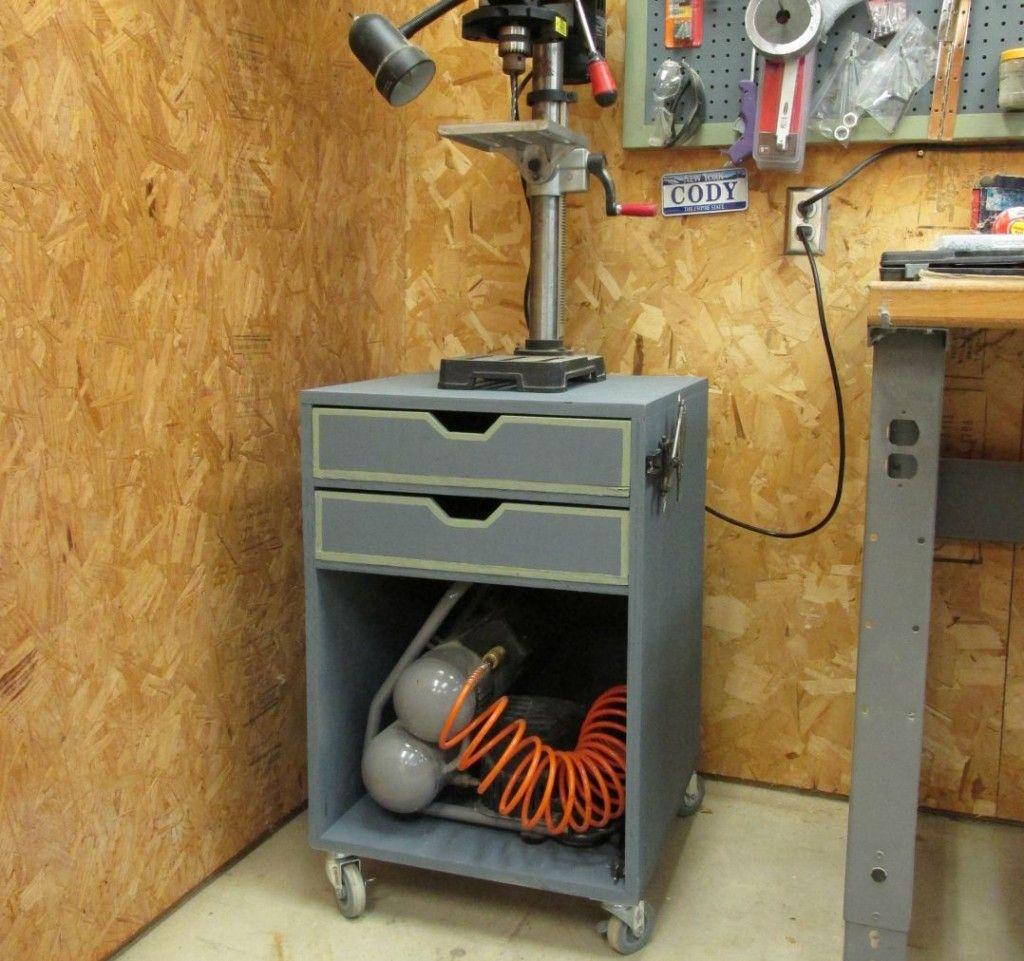 DIY Rolling Drill Press Stand   Drill press stand, Drill ...