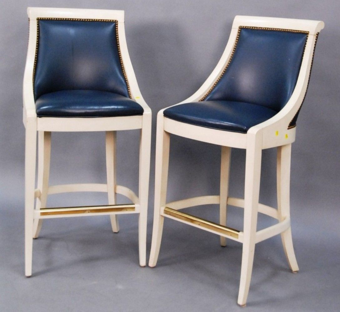 Discover Ideas About Modern Rustic Furniture Navy Blue Bar Stools  Blue Leather Bar Stools L3