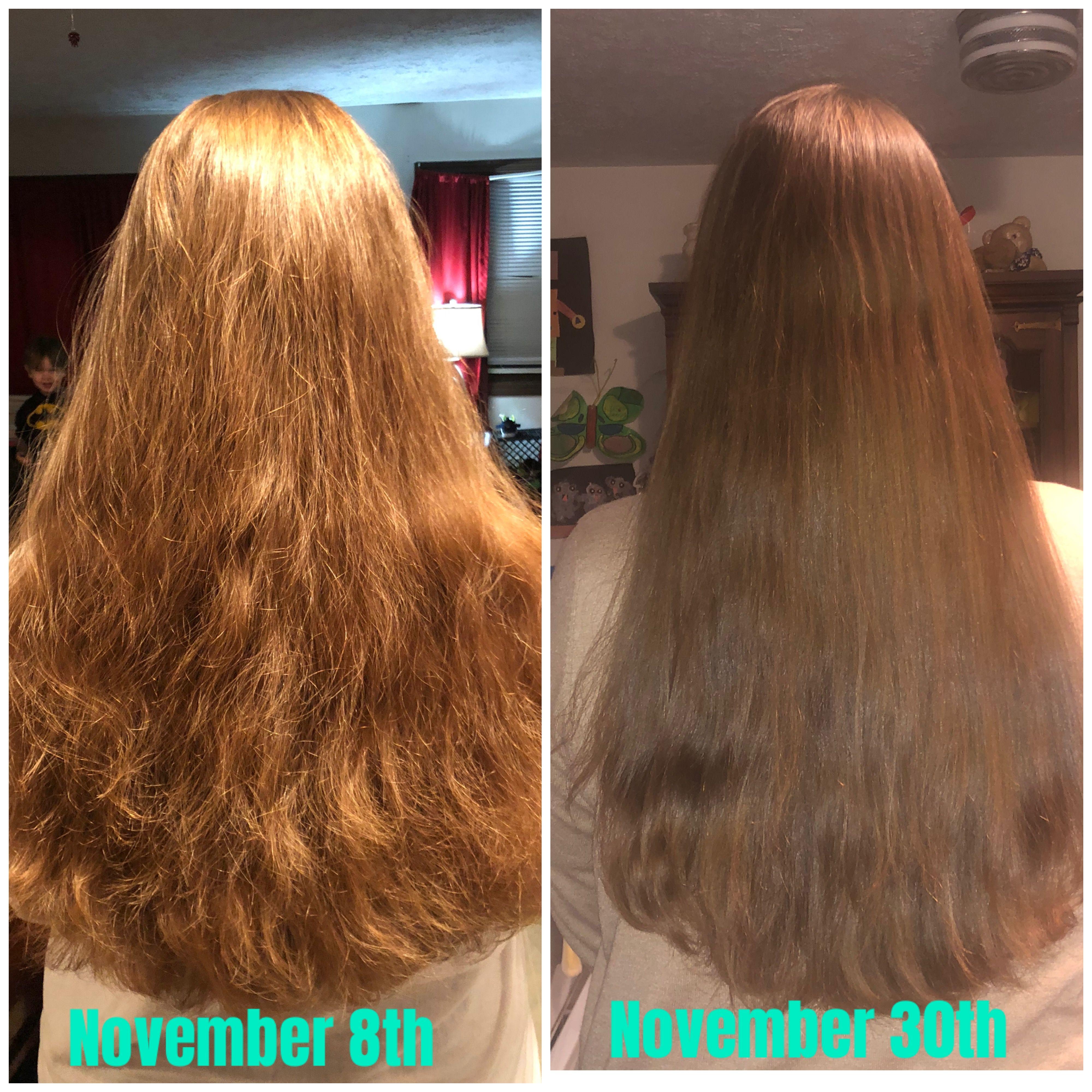 Farmasi products keratin shampoo and hair mask, 3 week