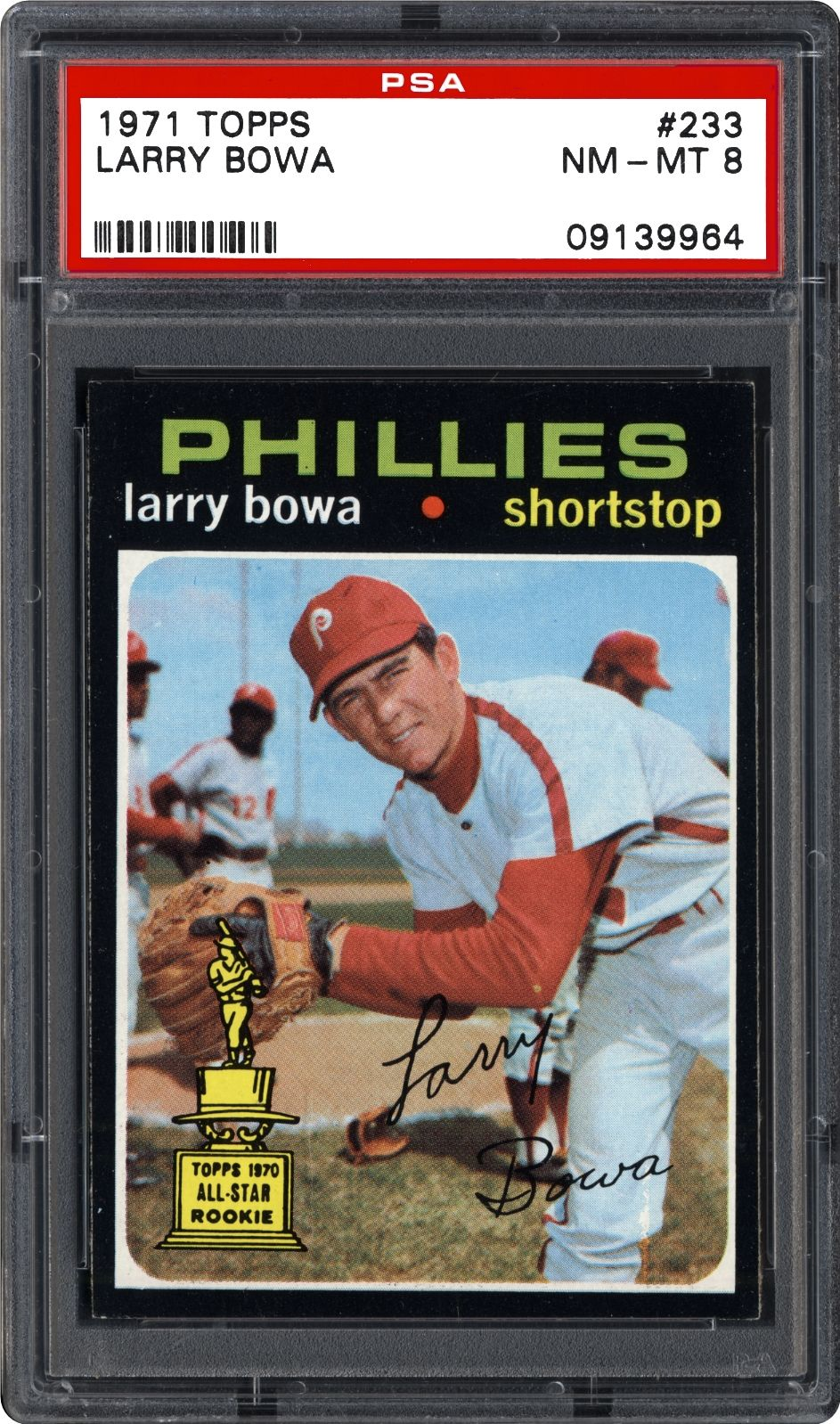 1971 topps 233 larry bowa baseball cards phillies