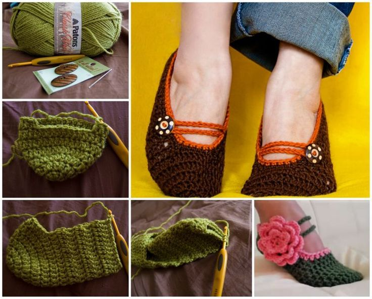 Crochet Mary Jane Slippers with free pattern f   en los pies   Pinterest