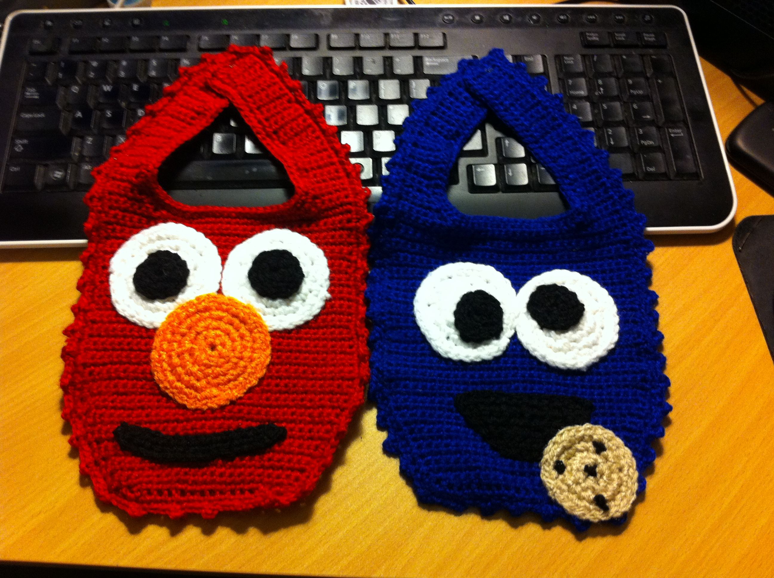 Elmo and Cookie Monster Baby Bibs~Kimberly Davis~ … | Pinteres…