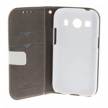 Samsung Galaxy Ace 4 Valkoinen Nahkakotelo  http://puhelimenkuoret.fi/tuote/samsung-galaxy-ace-4-valkoinen-nahkakotelo/