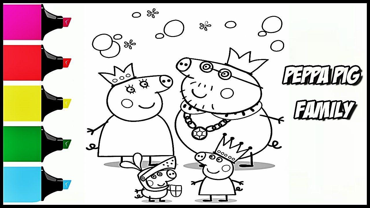 Свинка Пеппа И Её Семья Раскраска Видео Для Детей с ...