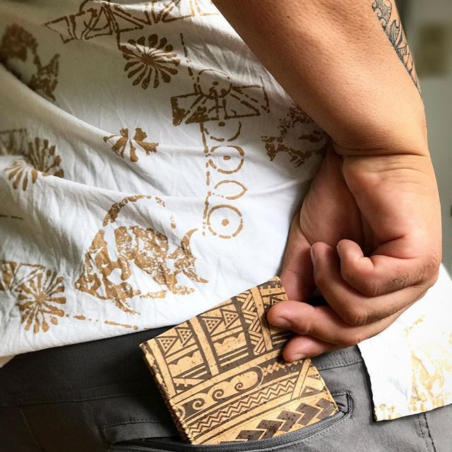 My man rocking our NEW cork wallets! This tribal pattern has me all😍😍! Posting to the website TODAY!