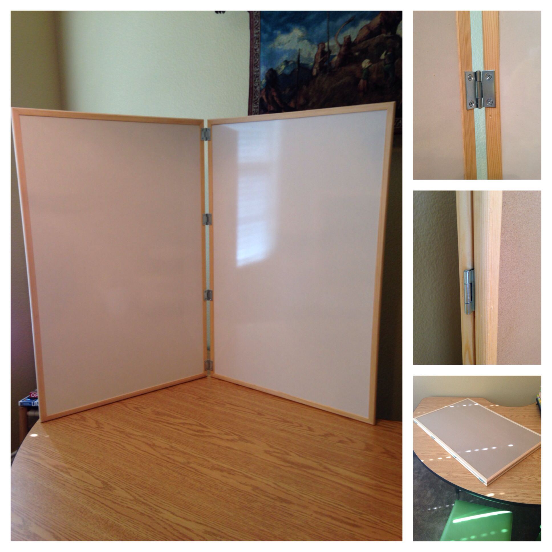 My 36 X 48 Diy Traveling Dry Erase Board 2 24x36 From Hobby Lobby And 4 1 5 Zinc Hinges From Lo Classical Conversations Homeschool Preschool Homeschool