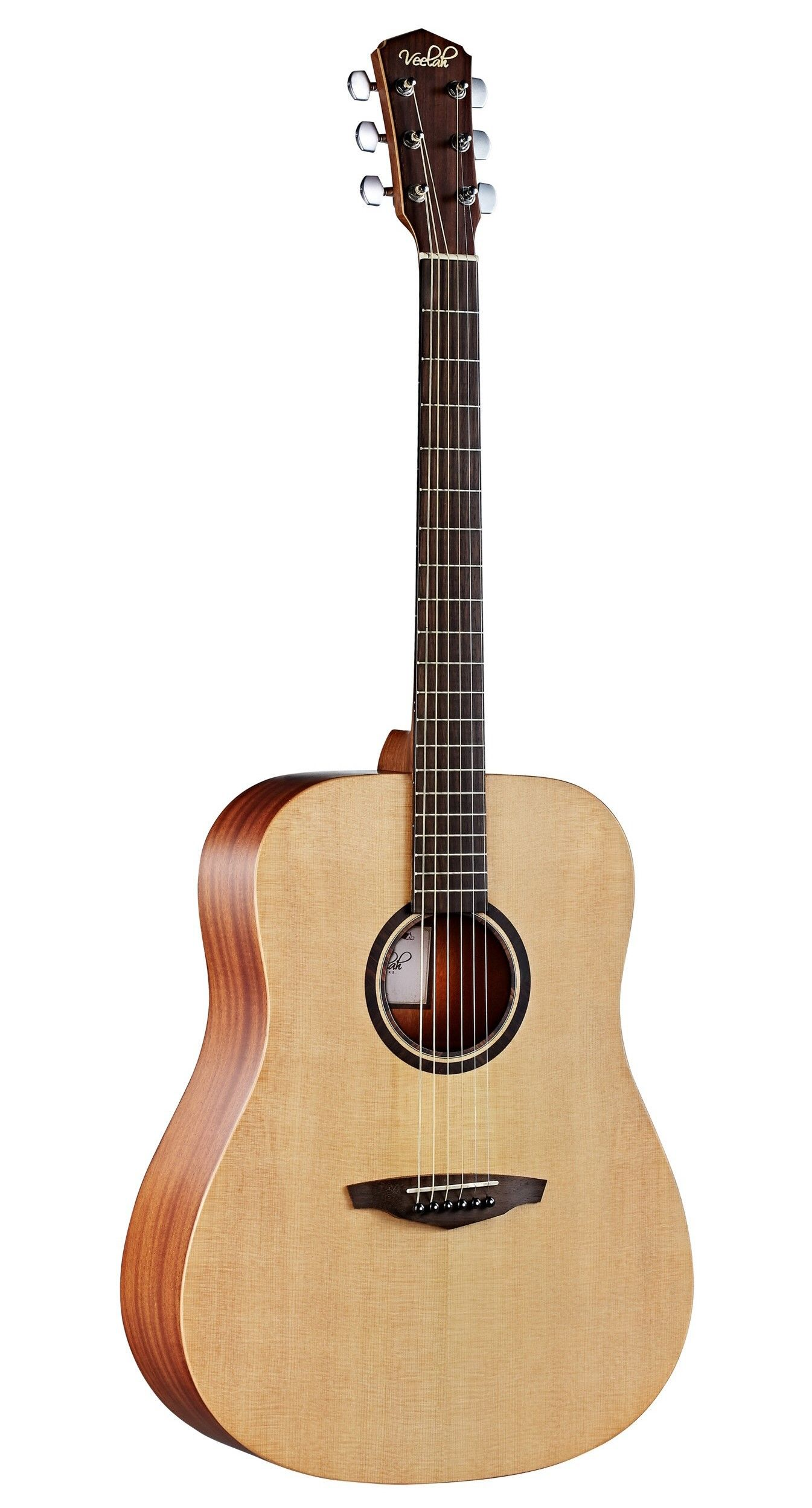 Veelah Guitare Folk V1 D Naturel Massive Guitare Guitare Acoustique