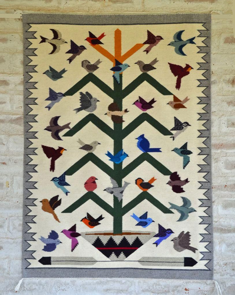 3251 Navajo Tree Of Life Rug Metaltreeartwall Metal Tree Art In