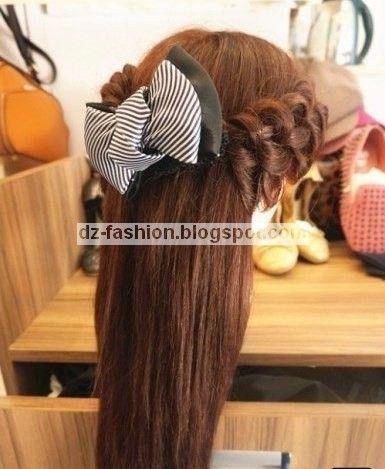 Dz Fashion كيفية عمل تسريحة شعر بسيطة للفتيات Easy Hairstyles Hair Styles Hairstyle