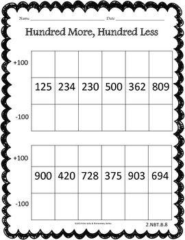 place value worksheets task cards 2nd grade common core math place value worksheets. Black Bedroom Furniture Sets. Home Design Ideas