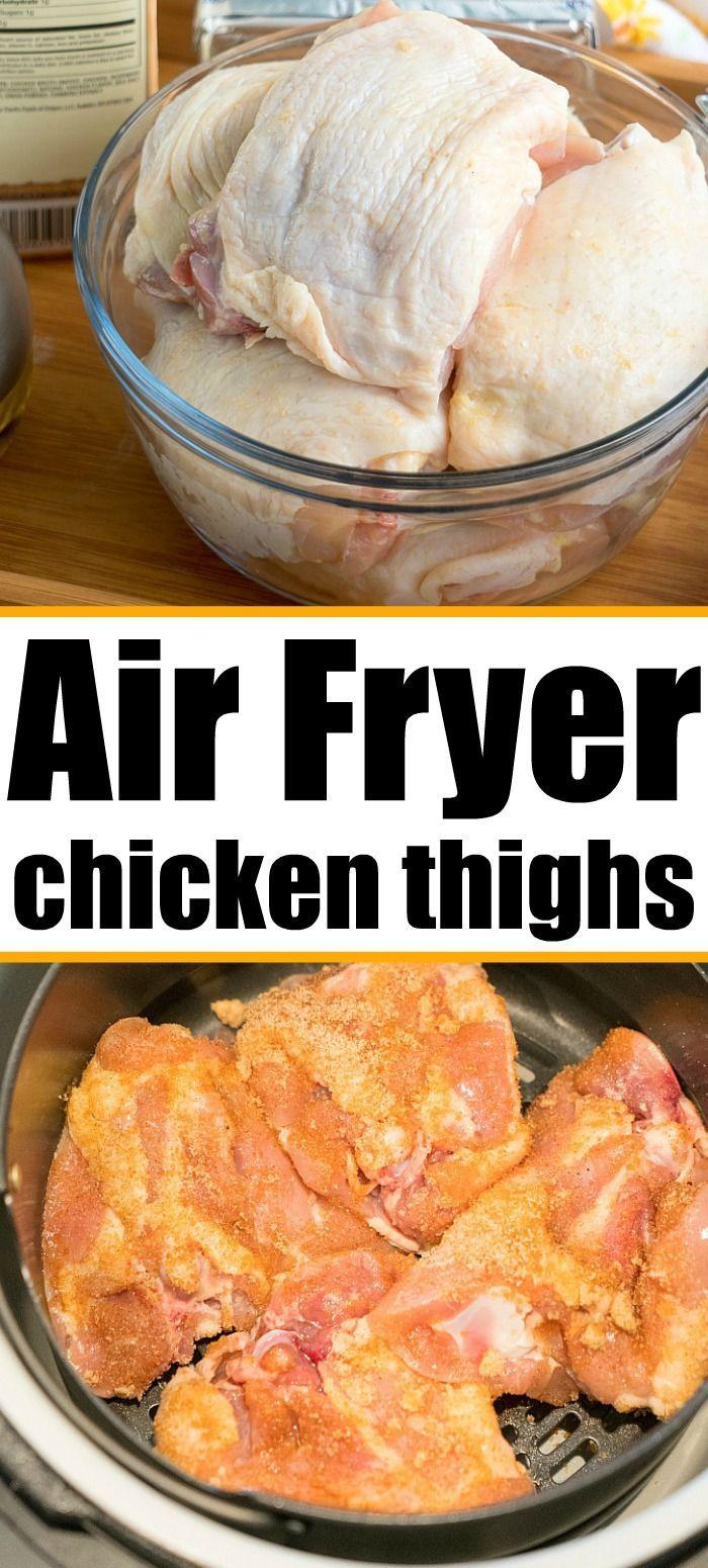 Air Fryer Chicken Thighs in 2020 Air fryer recipes