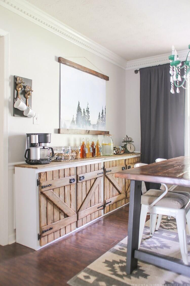 30 Clever Dining Room Storage Ideas Dining Room Storage Diy Kitchen Cabinets Rustic Kitchen
