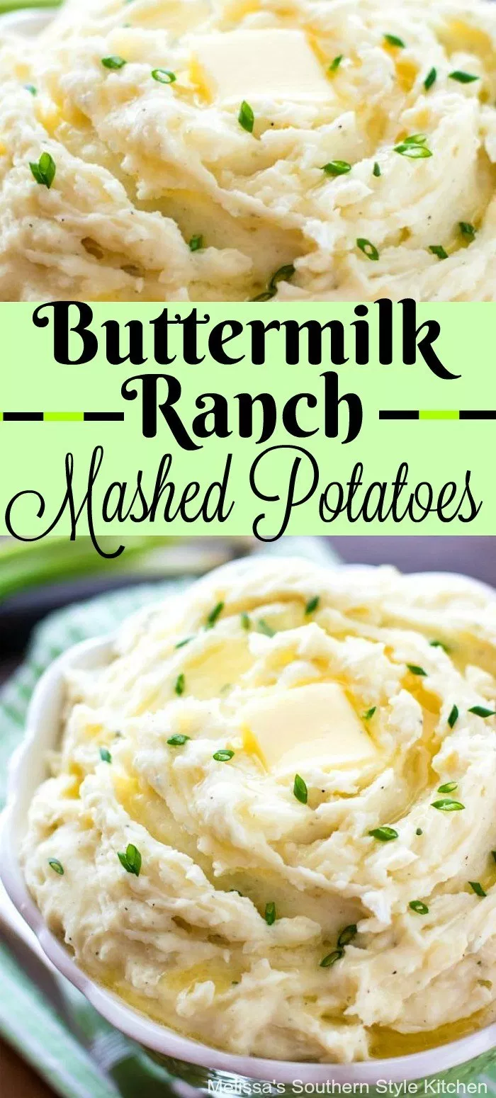 Creamy Buttermilk Ranch Mashed Potatoes Potatoes Mashedpotatoes Potato Potatorecipe Ranch Mashed Potatoes Easy Potato Recipes Southern Mashed Potato Recipe