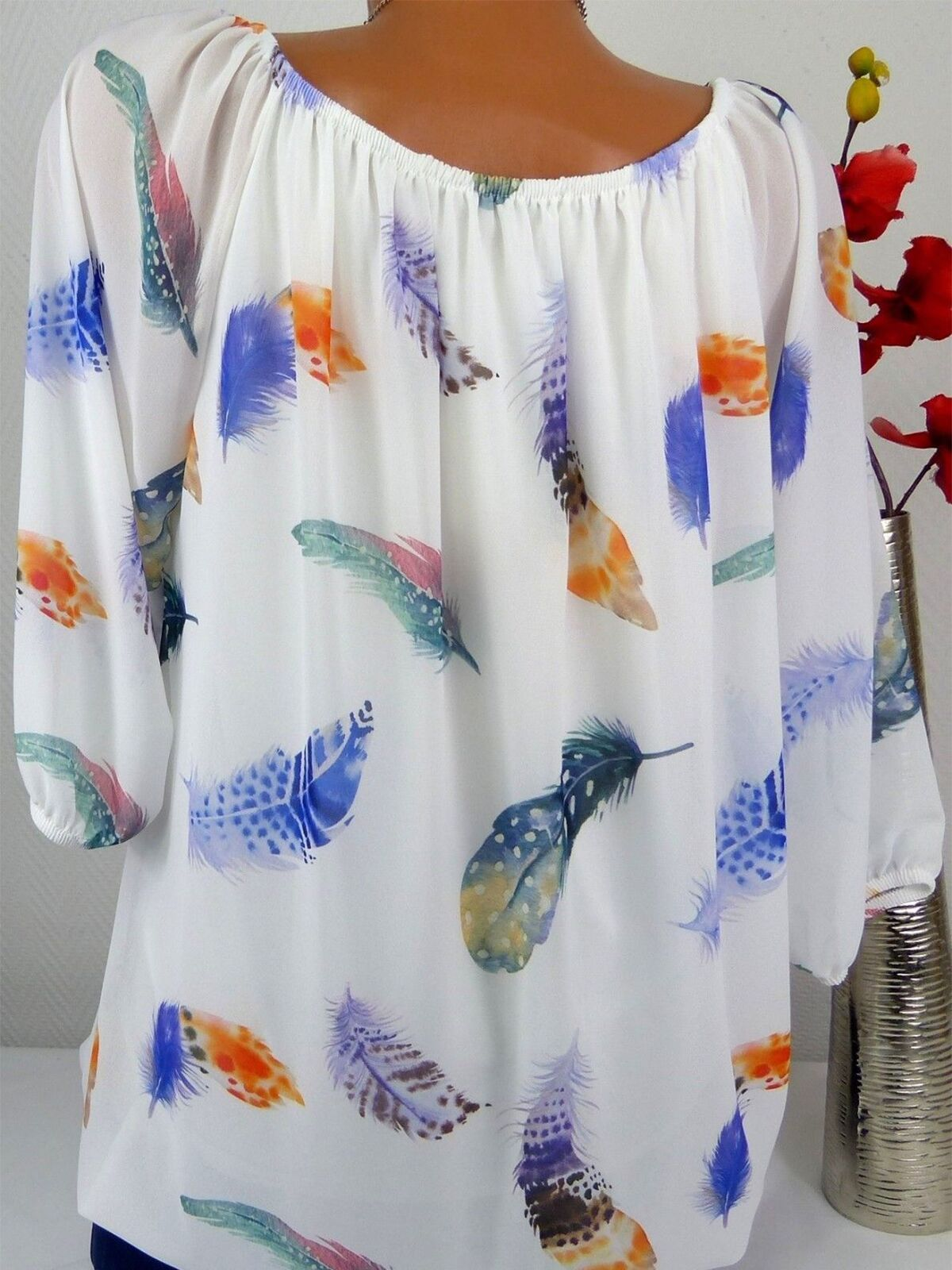 3c1d2ecc12 Polyester Word Collar Feather Printed Long Sleeve Long Sleeve T-Shirts #Ad  , #ad, #Collar, #Feather, #Polyester, #Word