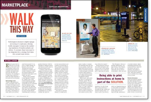 Marketplace Trends New Technology For Latest Wayfinding Products Digital Signage Signage Walk This Way