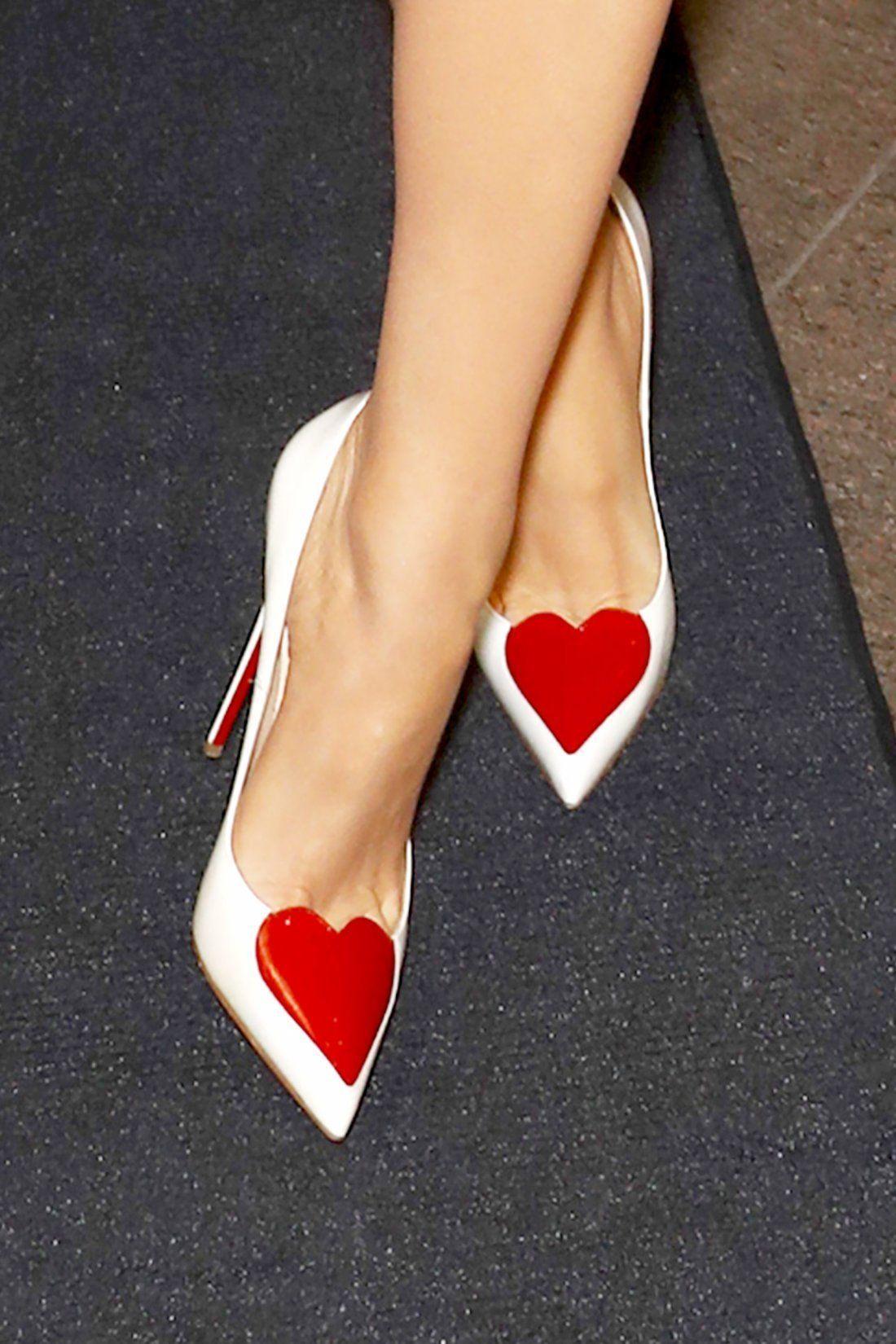 heart Christian Louboutin heels