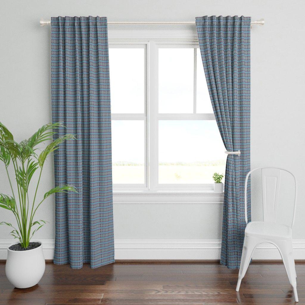 Herringbone In Gray by Herringbone Curtain Panel Chevron Stripes Custom Curtain Panel by Spoonflower