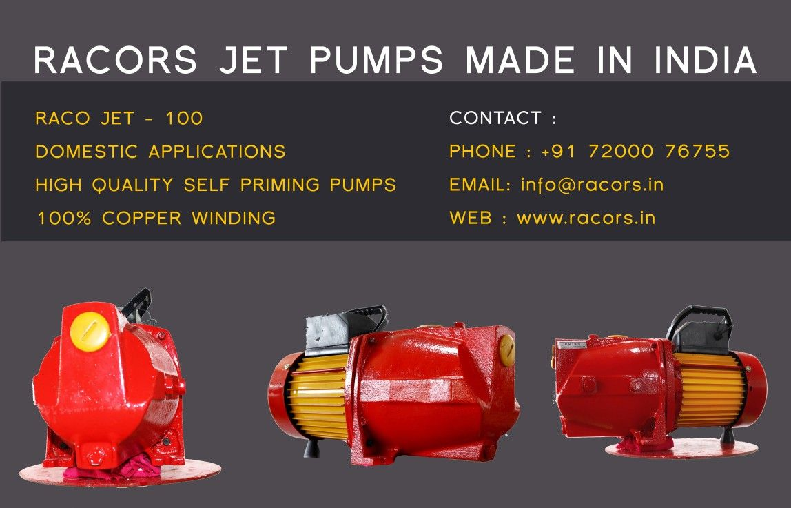 Racors Domestic Jet pumps in 2020 Jet pump, Submersible