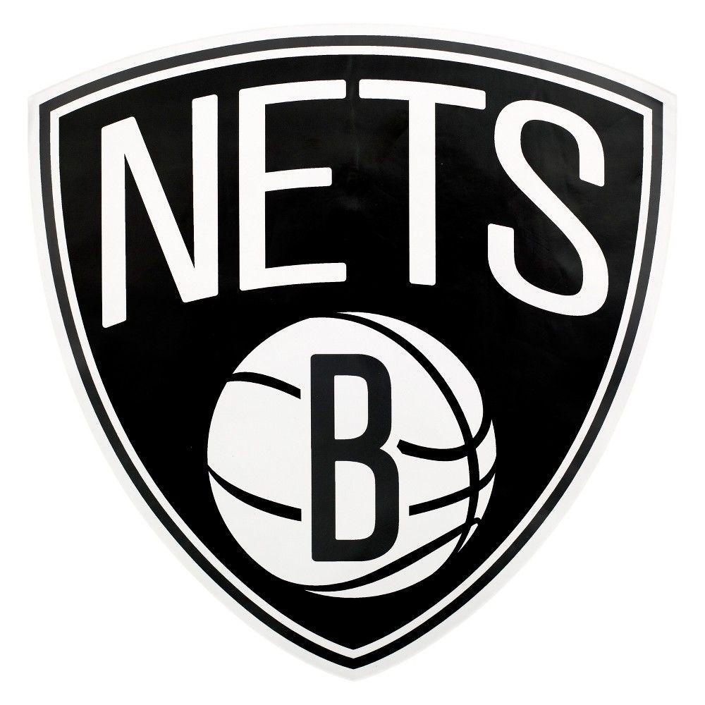 Nba Brooklyn Nets Large Outdoor Logo Decal In 2020 Outdoor Logos Brooklyn Nets Brooklyn Nets Basketball