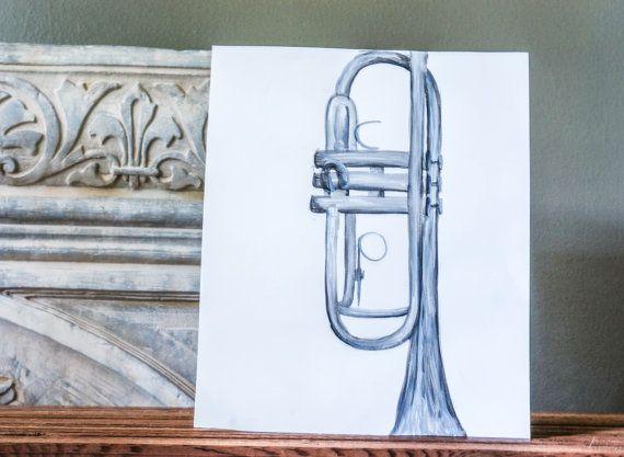 Simple Art Still Life Trumpet