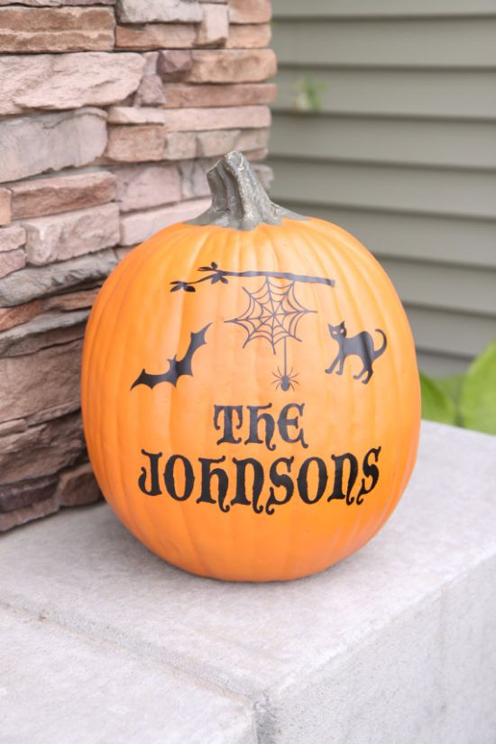Great Ideas To Decorate Pumpkins Without Carving Spider Webs - Custom vinyl halloween stickers