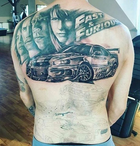 292523007abf4 Pin by TheLiveFeeds.com on Work   Fast, furious, Tattoos, Tattoo photos